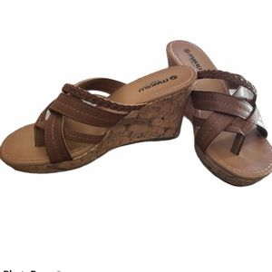 Makalu California Wedge Sandal Size 7.5